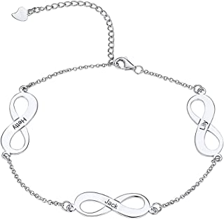 Women Girls Barefoot Jewelry 18K Gold or Rose Gold Stainless Steel Infinity/Heart Charm/Rope/Figaro/Cuban Chain Anklet Foot Bracelet, 25-30 cm Long