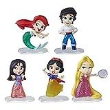 Disney Princess Comics Dolls, Glitter Pack with Ariel, Eric, Mulan, Rapunzel, and Snow White, Disney Toy with 5 Dolls