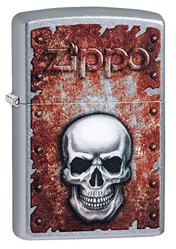 Zippo Skull Heart, Accendino Unisex Adulto, Cromato, Regular