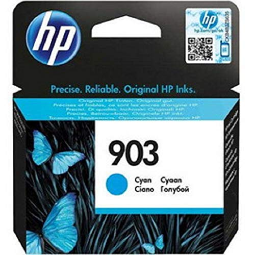 HP 903 T6L87AE Cartuccia Originale per Stampanti a Getto di Inchiostro, Compatibile con OfficeJet 6950, OfficeJet Pro 6960 e 6970, Ciano