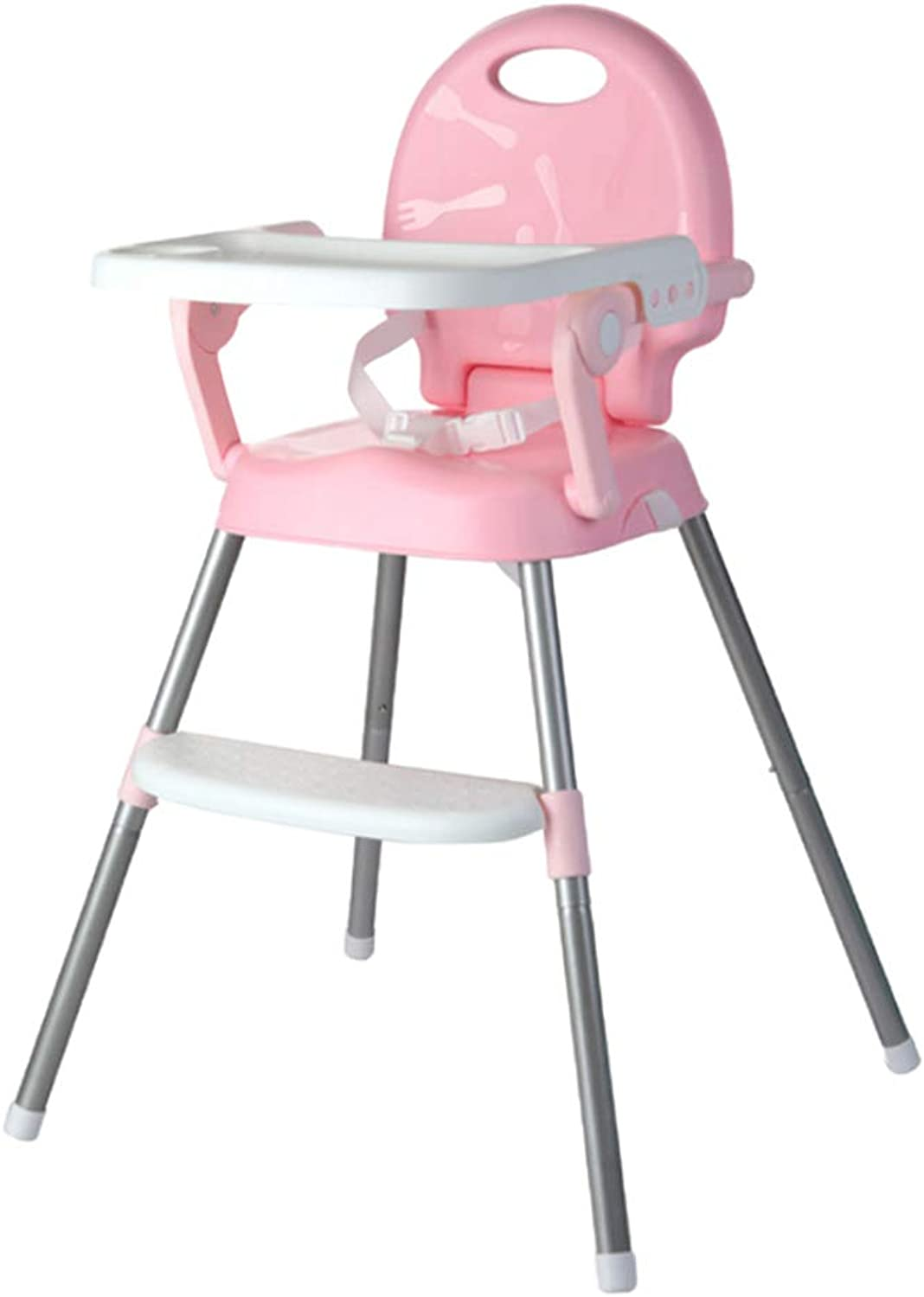 SM SunniMix Foldable 3 in 1 Baby Toddler Infant Congreenible Highchair Feeding Seat Chair - Pink, as described