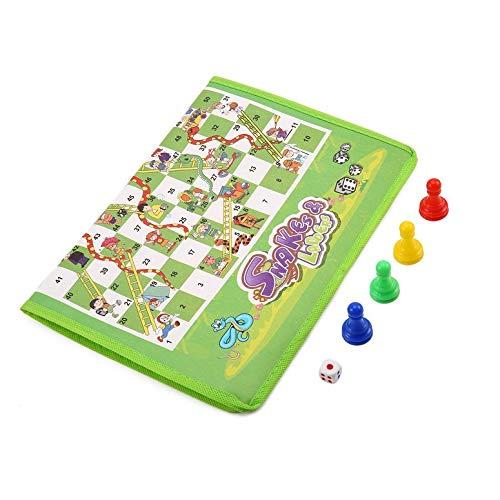 ArgoDBar Jeu d'échecs de Tapis de Tapis Non-tissé de Jeu de Parent-Enfant Serpent et échelles apprécient l'amusement FA LY