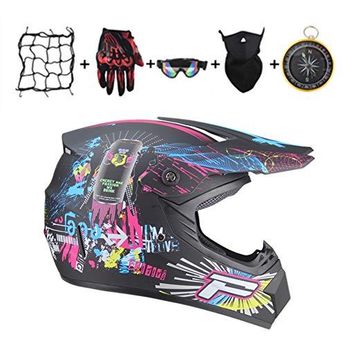IURIMA Casco de motocross Downhill Enduro (57-58) L