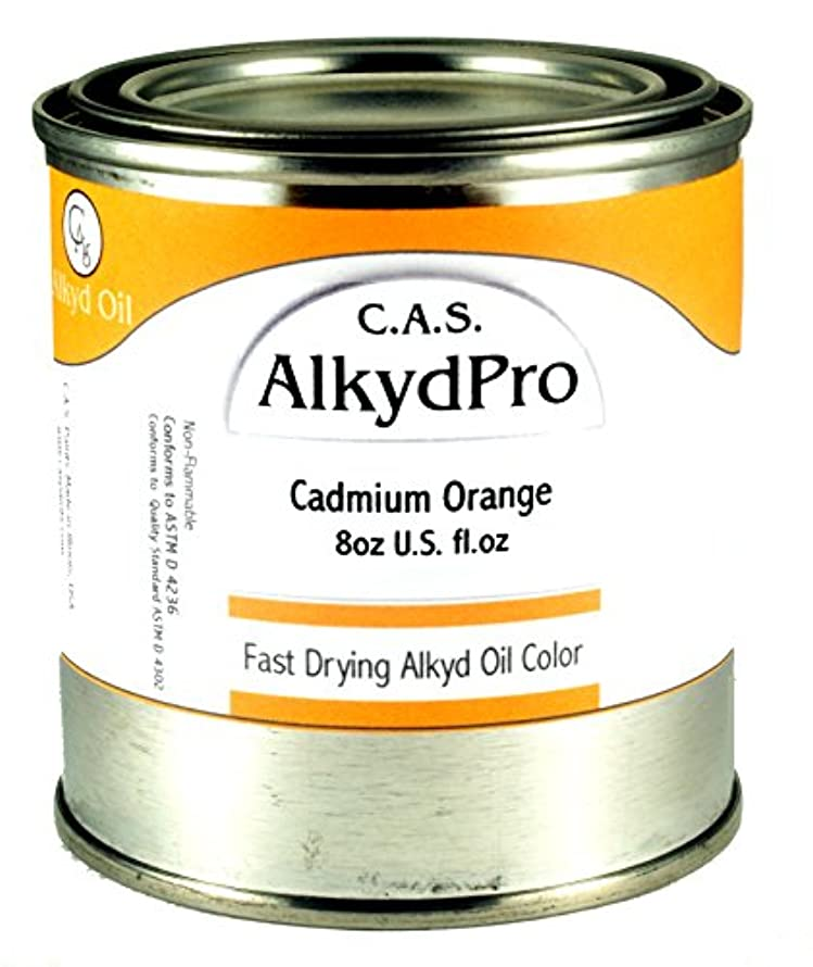 C.A.S. Paints AlkydPro Fast-Drying Oil Color Paint Can, 8-Ounce, Cadmium Orange