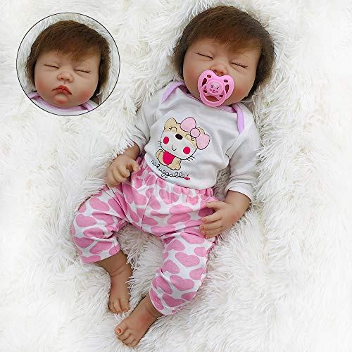 OtardDolls Reborn Baby Dolls Lifelike Realistic Bebe Girl with Puppy Clothes Soft Vinyl Children Gifts ( Puppy Lovely)