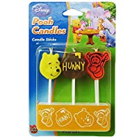 Winnie the Pooh Pick Candles ( Pack of 6)