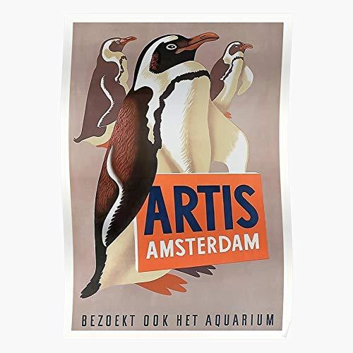Doeve Affiche Penguin Artis Amsterdam Vintage Netherlands Eppo Natura Magistra Advertising Zoo Beeindruckende Poster für die Raumdekoration, gedruckt mit modernster Technologie auf seidenmattem Papie