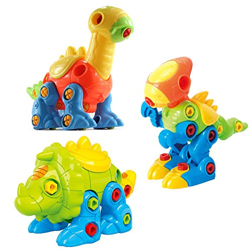 CAILLU Tyrannosaurus rex Dinosaur Stem Toys DIY stem Green Learning,take Apart Dinosaur Fun,Construction Engineering Building Play Set for Boys,Girls,Toddlers,Best Toy Gift Kids Ages 4 and up10