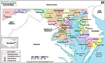 Maryland County Map - Laminated (36