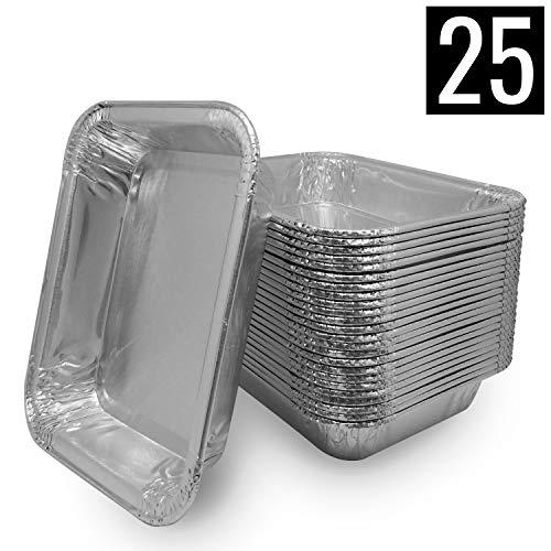 Mamatura 25 Aluschalen | Passend für Napoleon und Broil King Grills | Alu-Tropfschalen, Grillschalen, 25 Stück