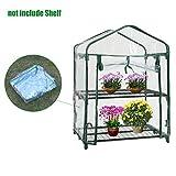 Heresell - Telo in PVC per mini serra a due ripiani per piante, senza telaio in ferro