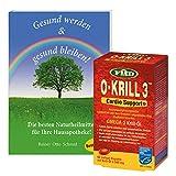 O-Krill 3 Cardio Support | 60 Kapseln | Mit Omega-3 Fettsäuren EPA und DHA & Cholin | Leicht verdaulich & verwertbar + Buch:'Gesund werden & Gesund bleiben' im Geschenkset gratis