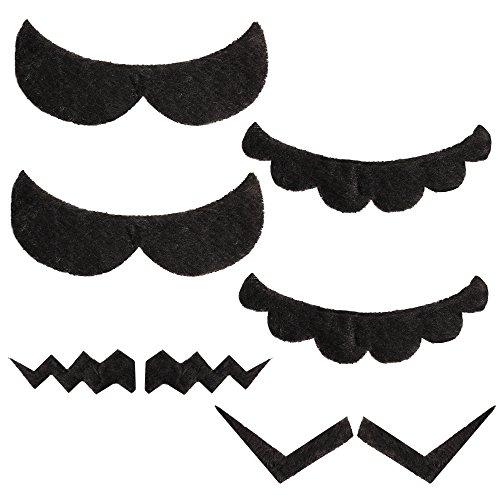 Katara 1826 - Super Mario Klebe Bärte Schnurrbart Schnauzer Set, Fasching Karneval Kostüm, Erwachsene Kinder