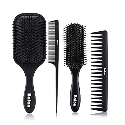 4Pcs Paddle Hair Brush