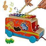 Xilofono Infantil Madera - Autobus Juguete Instrumentos Musicales Bebe...