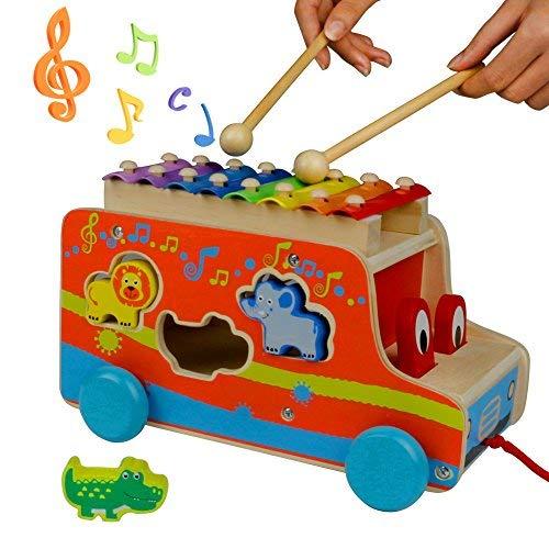 Xilofono Infantil Madera - Autobus Juguete Instrumentos Musicales Bebe Juguetes Educativos para...