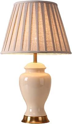 Ceramic Table Lamp-Modern Minimalist Living Room Bedroom Bedside Lamp, Warm and Creative Decorative Lighting