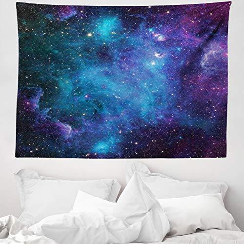 ABAKUHAUS Weltraum Wandteppich Galaxy Sterne im Weltraumaus Weiches Mikrofaser Stoff 150 x 110 cm Moderner Digitaldruck Waschbar Navy Purple