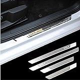ASDNN 4 Unids/Set Car Door Sill Protector de Acero Inoxidable Placa de Desgaste Etiqueta de diseño para VW Volkswagen Golf 7 mk7 R 2013 2014 2015 2016 2017 2018
