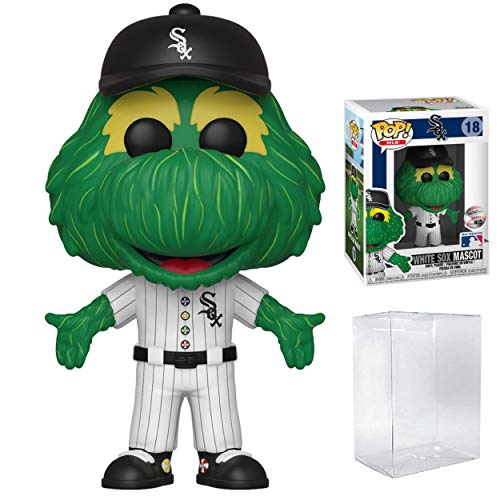 Funko Pop! Sports MLB Mascots Chicago White Sox, Southpaw #18 Action Figure (Bundled with Compatible Pop Box Protector to Protect Display Box)