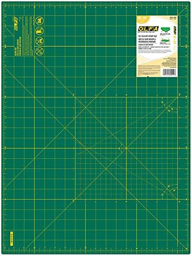 OLFA 9881 RM-SG 18-Inch x 24-Inch Self-Healing Double-Sided Rotary Mat , Green