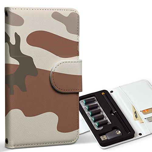 スマコレ ploom TECH プルームテック 専用 レザーケース 手帳型 タバコ ケース カバー 合皮 ケース カバー 収納 プルームケース デザイン 革 チェック・ボーダー 迷彩 カモフラ 模様 003862