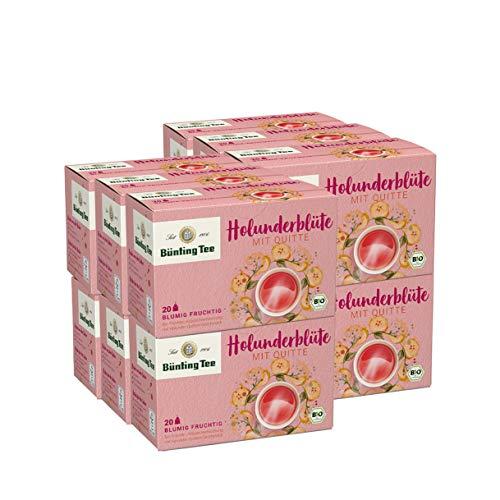 Bünting Tee Bio Holunderblüte mit Quitte, 12er Pack