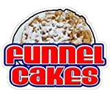 Funnel Cakes Concession Decal Sign Cake Trailer Signs