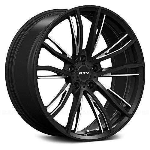 "Rtx Kleve Custom Wheel - 18"" x 7"", 48 Offset, 5x114.3 Bolt Pattern, 56.1mm Hub - Black with Machined Face Rim"