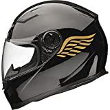 Calcomanías para casco de moto Angel Wings, 2 unidades, 80 mm x 40 mm, color dorado