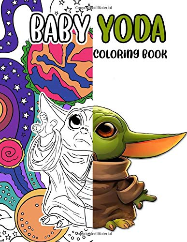 Baby Yoda coloring book: Color Wonder Coloring Books For Adults, Boys, Girls