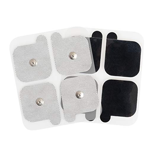 AccuRelief Universal TENS Unit Supply Kit - TENS Unit Pads and Lead Wires - for AccuRelief Single and Dual Channel TENS Devices and TENS Units with Snap Electrodes, 4 Sets of 2 (8 Count) Electrodes