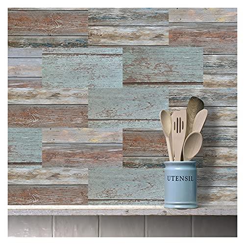 ESORST 20x10cm Etiqueta de la Pared DIY Decorativo Económico ecológico PVC Pegatinas de Azulejos para baño Cocina Piso de Pared (Color : 25, Size : 10x20cmx9pcs)