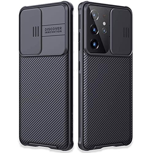 """LYINUR Funda Compatible con Samsung Galaxy S21 Ultra 5G Carcasa con Cubierta de la Lente (NO para S21/S21 Plus), PC Anti-Arañazos Carcasa Protector Cover Fundas Compatible con Galaxy S21 Ultra 6.8"""""""