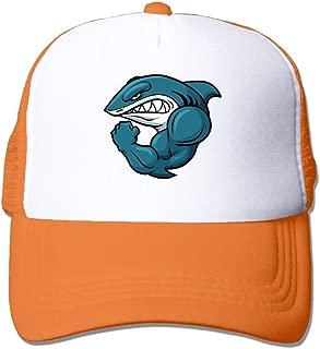 Strong Shark Mesh Trucker Caps/Hats Adjustable for Unisex Black
