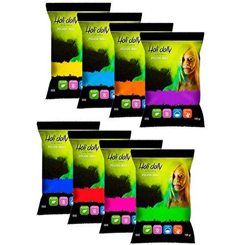 Poudre Holi- 8 sacs de 100 grammes poudre colorée #WeLoveHoli