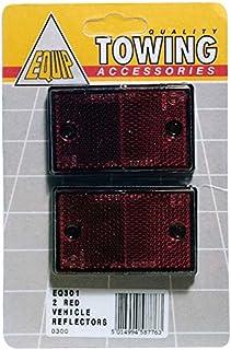 2x Reflectores de Equip cuadrado rojo aumentar la visibilidad eq301