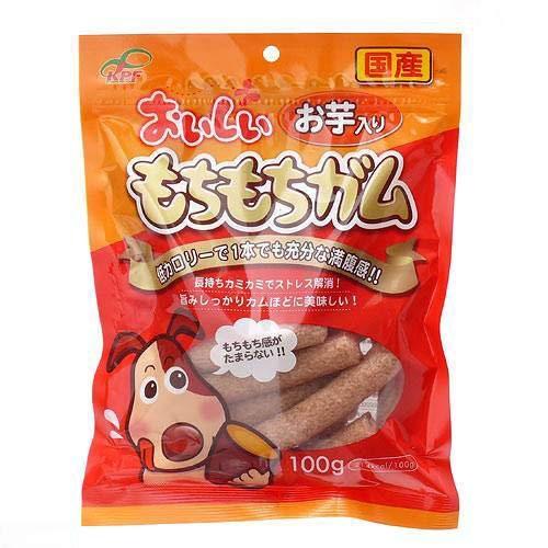 おいしいシリーズ 犬用おやつ おいしいもちもちガムお芋 100g