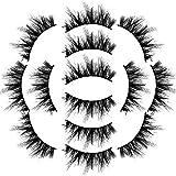 7Paire 3D falsche Wimpern flauschige Streifen Wimpern lange natürliche Party Make-up (7 Paar,1E)