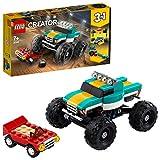 LEGO Creator 3 in 1 Set di Costruzioni Ricco di Dettagli: Scegli Tra 1 Monster Truck, 1 Muscle Car o 1 Dragster, per Bambini +7 Anni, 31101