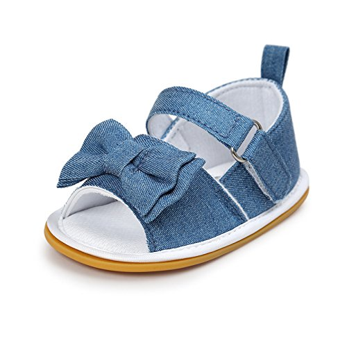 CoKate Baby Boys Girls Sandals Rubber Sole Outdoor First Walker Toddler Girls Boys Summer Shoes, A-classic Cowboy, 6-9 Months Infant