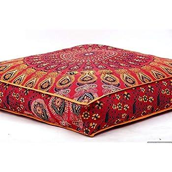 Shubhlaxmifashion Gold Mandala Tapestry Single Cotton Printed Wall Hanging Dorm Decor Bedspread