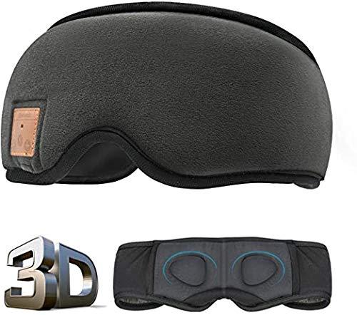 ANTSIR Sleep Headphones Máscara de dormir Bluetooth, 3D Sleep Eye Mask com alto-falantes de esponja embutidos, Headphones Bluetooth sem fio Máscara de dormir para dormir, cochilar, viajar, ioga (preto)