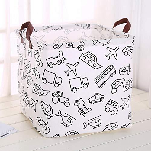 Omabeta Contenedores de almacenamiento ligeros con dos asas plegables, fáciles de usar para la cesta de la colada (coche)