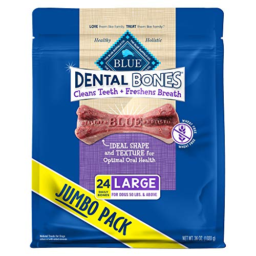 Blue Buffalo Dental Bones Natural Adult Dental Chew Dog Treat for Pugs