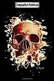 Composition Notebook: Gangs Skull Reddish Biker Motorcycles Notebook