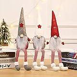 MU2827924 Langer Hut Plüsch Weihnachtszwerg Puppe Dekoration Weihnachtsmann-Figur Puppe Plüsch Elf Spielzeug 3 Stück,3pcs - 2