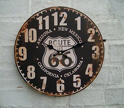 Wanduhr Küchenuhr, ROUTE 66, California, america, USA, 28 cm,