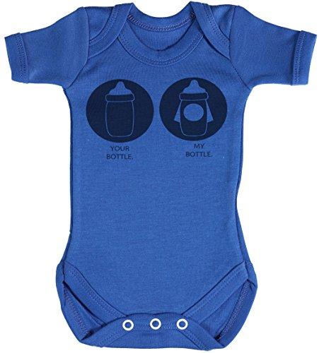 Your Bottle My Bottle Baby Gift, Baby Boy Gift, Baby Girl Gift, Baby Boy Bodysuit, Baby Girl Bodysuit - Newborn Blue