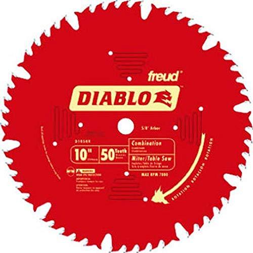 "Freud D1050X Diablo 10"" 50-tooth ATB Combo Saw Blade w/5/8"" Arbor&PermaShield"